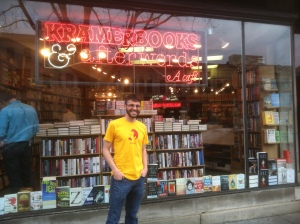 At Kramerbooks and Afterwords Cafe, an indie bookstore in D.C. which is especially close to my heart, for it's where my wife and I shared veggie chili on one of our first dates! But besides having an excellent cafe, Kramerbooks is stocked with